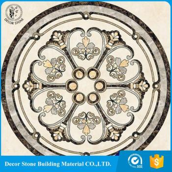 Natural Stone Marble Waterjet Pattern Design For Hotel Decoration