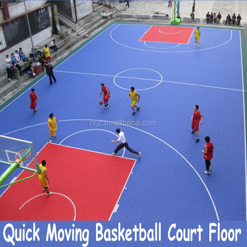portable basketball court sports flooring