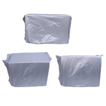 PE plastic clear white air conditioner cleaning bag