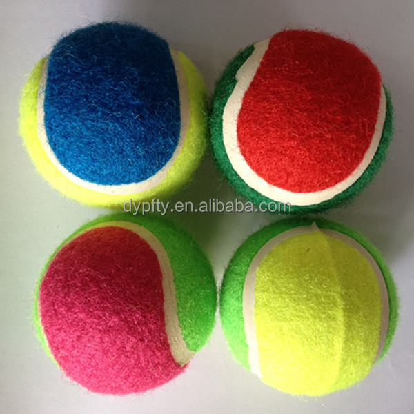 "2.5"" coloured eco friendly tennis ball manufacture"