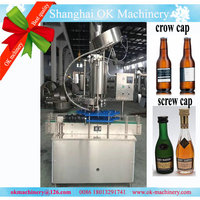 Automatic crown cap beer washing filling capping machine