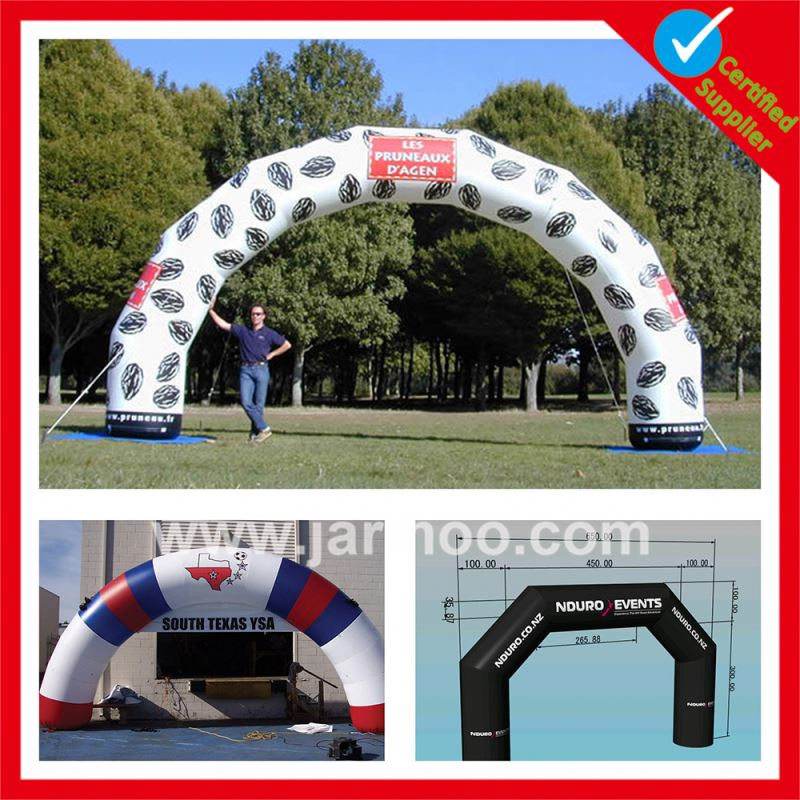 China manufacture promotional hand made inflatable finish line rental