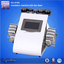 Hot Sale 6 big laser pads and 2 small pads Cavitation RF Lipo Laser exilis device fat breaking machine Cynthia RU 919S