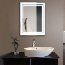 Frameless Touch Sensor Illuminated Backlit LED Bathroom Mirror