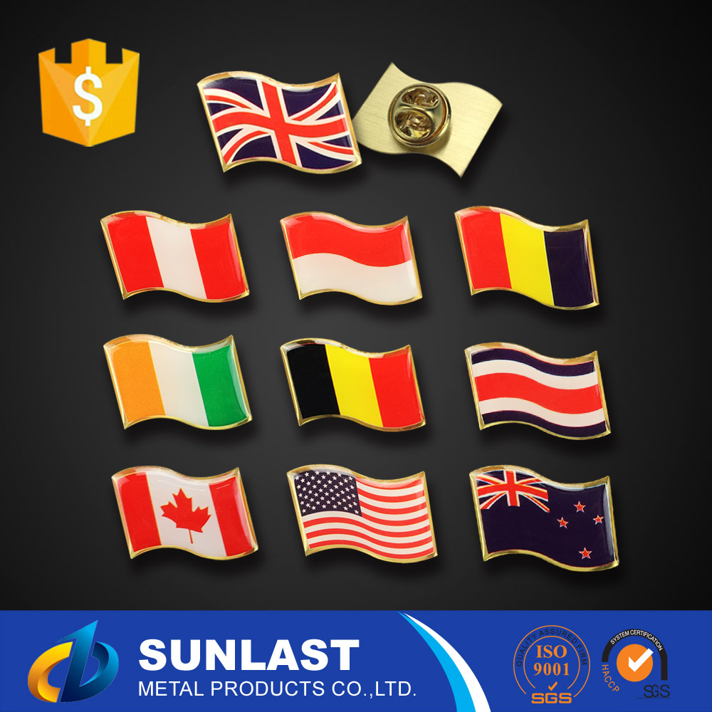 SUNLAST 7DAYS Delivery Time american flag lapel pin XOEM1662