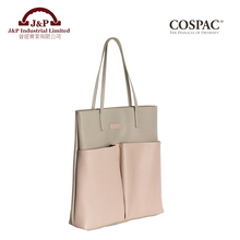 Wholesales Custom Design Cotton / Faux Leather / PU Tote Bag