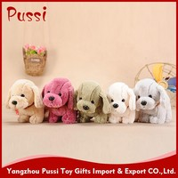 Plush christmas gifts stuffed sleeping dog
