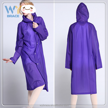 Sample Aailable Unisex Men Women Rain Poncho with Hat Hood Full Length Raincoat