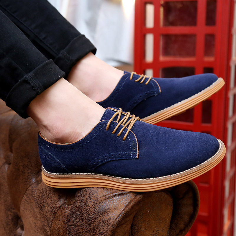 HFR-TS-28-3851Top quality suede leather thick sole shoes for men