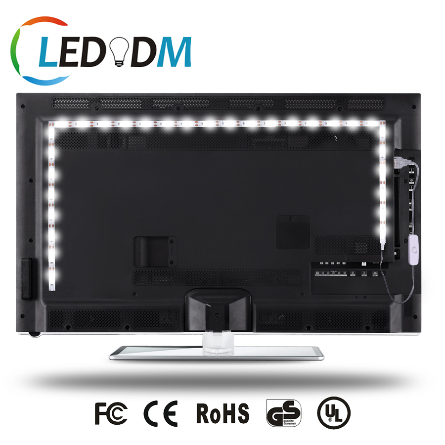 Amazon Hot Sales TV LED Backlight 5V Strip Light Bias Lighting for HDTV Flat Screen TV LCD with Turn On/Off Button