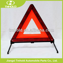 lead green warning triangle for safety with iron feet