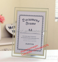 Wholesale glass A4 document poster photo picture frame