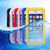 High Quality Full Body Protective Silicone + PC Case for iPhone 6 Waterproof Case with Neck Strap, Waterproof Case