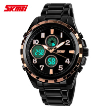 Skmei 1021 Black Band Big Face Sport Watches for Men Roman Numeral Waterproof Military Tactical Wrist Watches