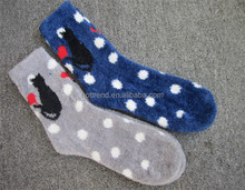 Women ladies cat knitted micro cozy indoor room home slipper socks