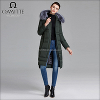 Fur Collar Hooded Long Winter Jacket for Women