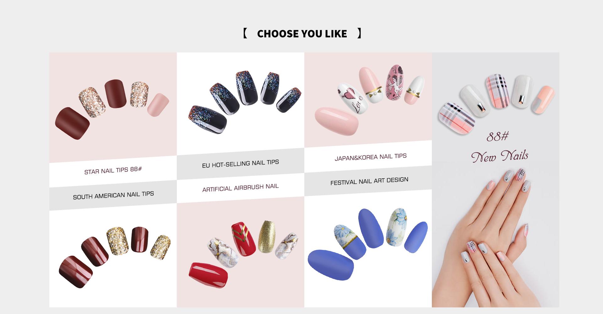 Jinhua Fashion Art Nail Factory - HomeNail tips, Product Categories