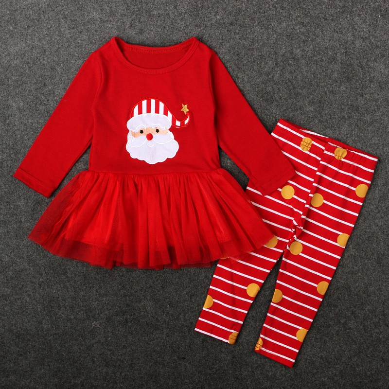 cheap kids clothing sets warm red christmas girls dresses