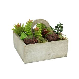 Newest selling superior quality green wooden pot decorative plant
