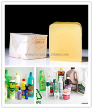 China supplied economical hot melt glue adhesive for plastic bottle labeling