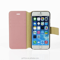 PC+Pink Litchi PU Leather 2 in 1 case for iPhone6/6s