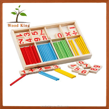 Wholesale Stick Early Education Cognitive DIY Arithmetic Child Kid Puzzle Game Play Wooden Counting Toys
