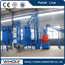 A Complete Production Line Small Animal Feed Pellet Machine Line