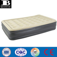 CUSTOM SHAPE folding Inflatable single double high raised air mattress bed cheap fabric lightweight double folding bed
