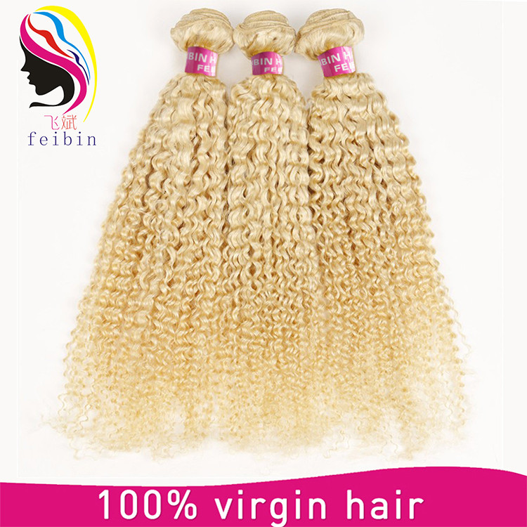 Blonde 613 color wholesale raw crochet human braids hair extension 8a remy virgin brazilian hair