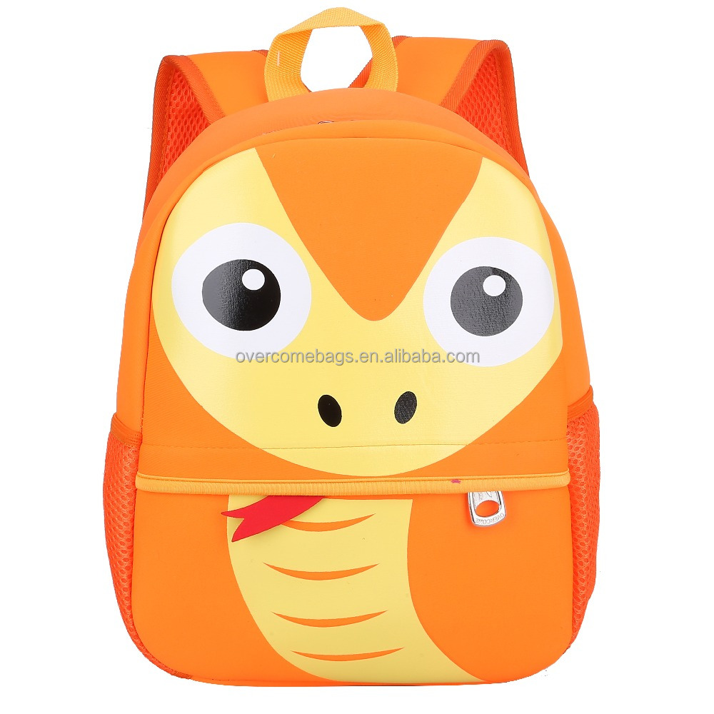2017 New personalized preschool 3d animal school bags back pack backpack