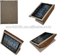 Leather Sleeve Bag Case for New iPad/iPad 3 with Stand