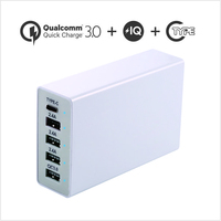 50W 5V10A QC3.0 Type C Multiple 5 Ports Universal Travel Adapter