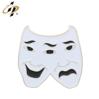 Manufacturer custom metal double-faced person enamel funny lapel pins