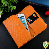2014 new design grip pattern universal leather wrap phone case for iphone 6