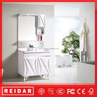 2016 Newest modern hot sell floor standing PVC bathroom cabinet