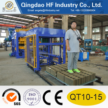 Large automatic block making machine QT 10-15 concrete paving block making machine production line