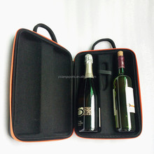 Premium Gift Case Hard EVA Box for 2 Bottle Wine/Champagne Carrier