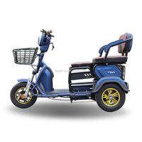 Hot sale popular Philippines mini pedal tricycle three wheel e tricycle motorcycle for disabled and old person
