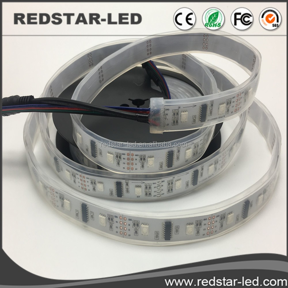 led dmx pixel strip <strong>rgb</strong> by WS2812B/2811/TM1812/LPD6803/LPD8806/apa102/104