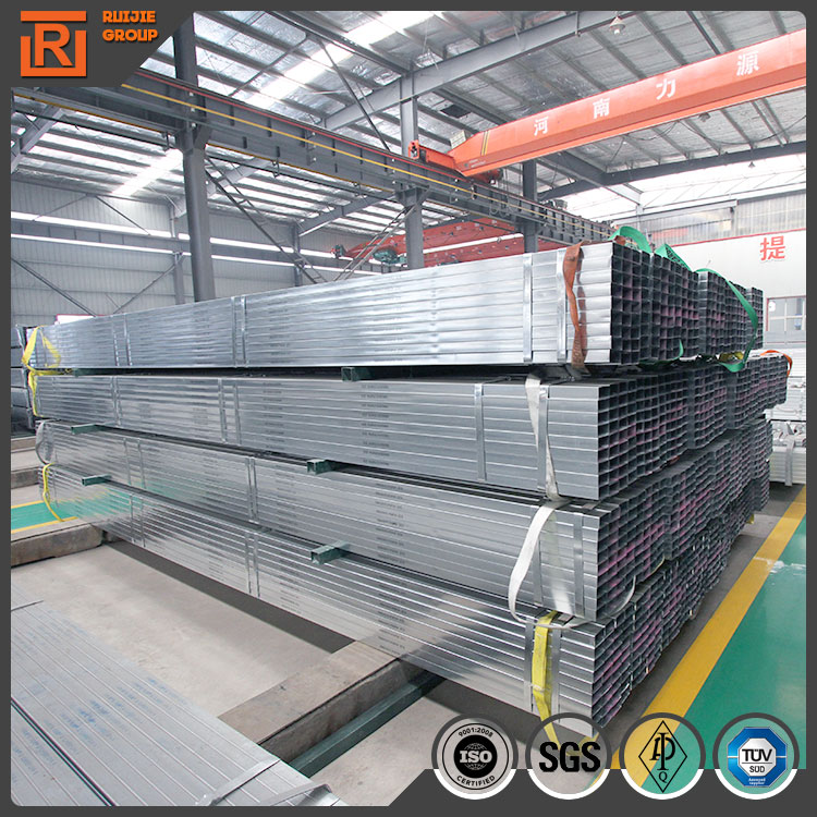 zinc plated rectangular steel tube/pre galvanized square hollow section 40*40*1.8mm