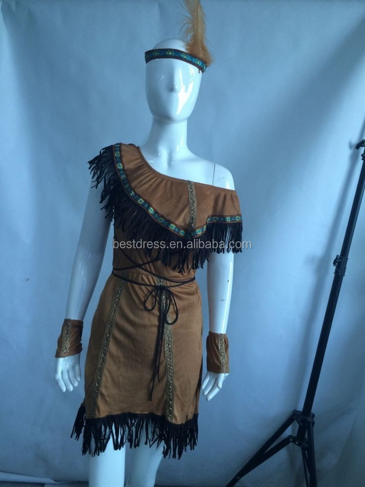 walson Ladies Pocahontas Native American Indian Wild West Fancy Dress Party Costume