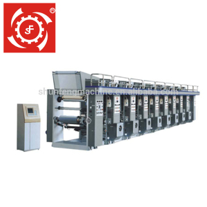 Ruian Shunfeng Brand No Computer One To Ten Color PE PP PVC Film Rotogravure Printing Machine Price