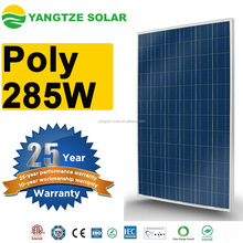 TUV/CE/ISO certificated 285w poly solar modules pv panel
