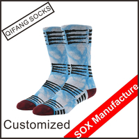 2016 Fashion Design Mens Elite Funny Cotton Tie Dye Socks