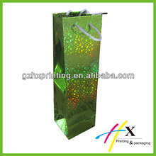 China supplier custom made christmas single wine bottle packaging bag