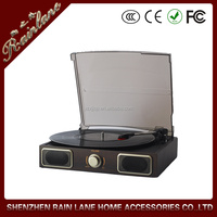 High Quality Vinyl Record and Auto-return function portable phonograph turntable player