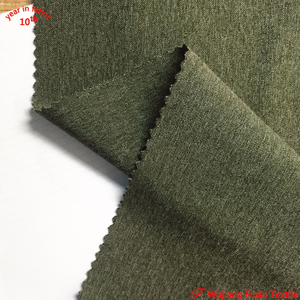 hot sale twill 100D heavy 2 tone cation melange polyester spandex fabric for sports wear