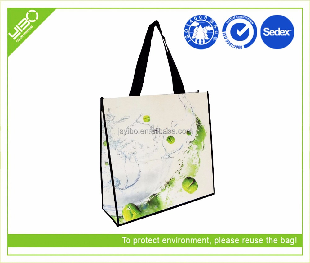 cheap laminated non woven foldable shopping bag
