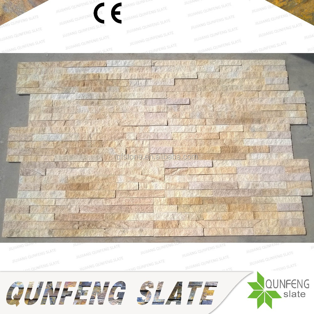 CE Passed Split Surface Yellow Culture Stone Sandstone Wall Tile