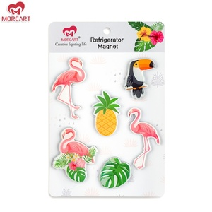 MORCART Original Design Flamingoes 3d Epoxy Resin souvenir Fridge Magnet